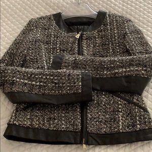 Guess by Marciano tweed/faux leather jacket